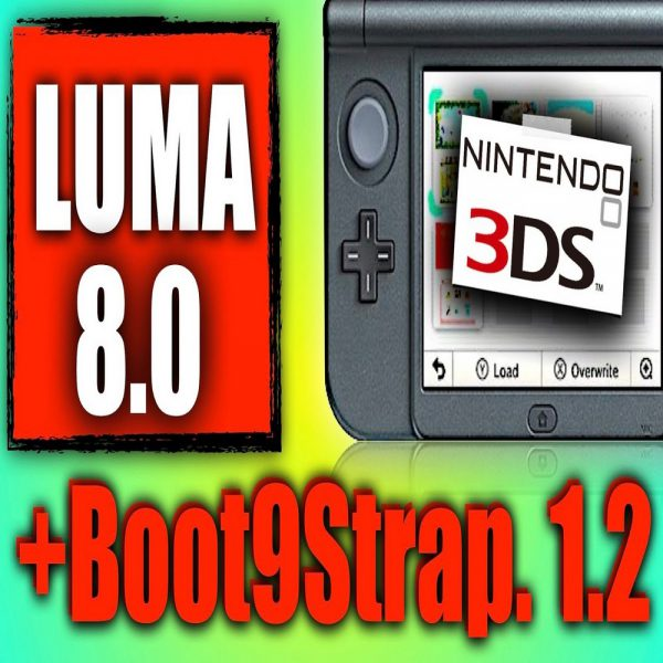 NTR Boothax Unbrick/Hack Boot9Strap Nintendo New 3DS & New 2DS